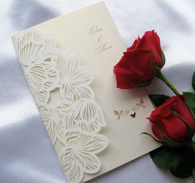 lily laser cut wedding invitations cards 4 ever edinburgh With laser cut wedding invitations edinburgh