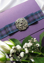Tartan Wedding Invitation