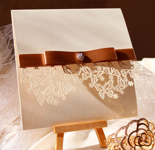 Laser Cut Butterfly Wedding Stationery