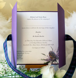 Tartan Thistle Wedding Invitation