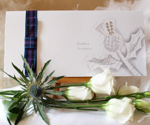 Thistle tartan wedding
