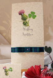 Thistle Shamrock Wedding Invitation