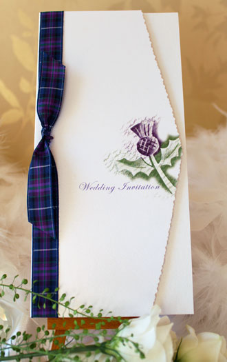 Scottish Thistle Invitation