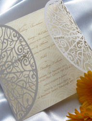 Laser Cut Art Deco Wedding Invitations