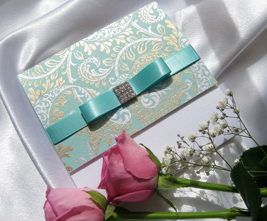 Lagoon Jewel Wedding Invitation