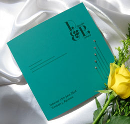 contemporary chic wedding stationery