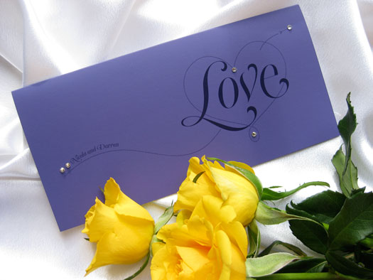 Purple Modern Stationery