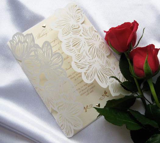 Laser Cut Lily Wedding Stationery
