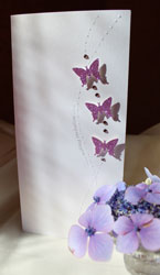 Entwined butterflies invitation