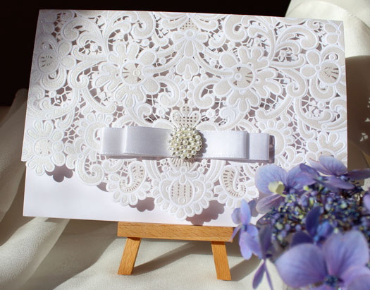 Lacy laser cut stationery