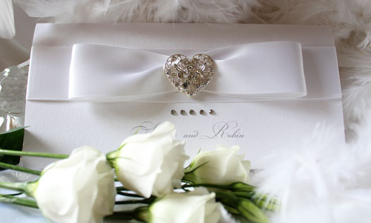 white heart luxury wedding