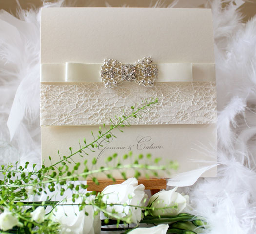 luxury vintage wedding stationery