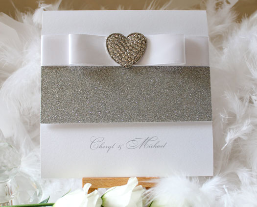 luxury sparkle wedding stationery