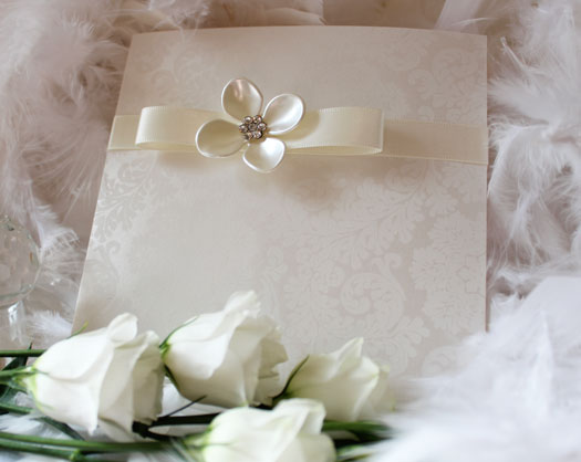 luxury petal wedding invitation