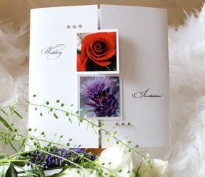 Scottish Flower Wedding Invitation