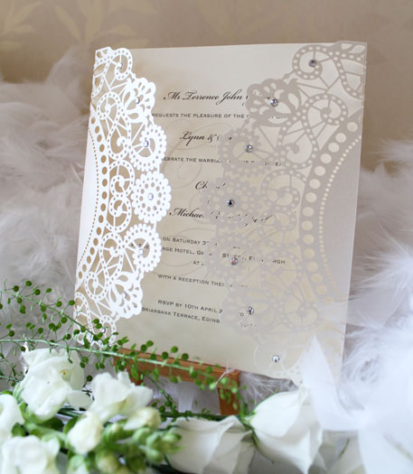Carousel laser cut invitations