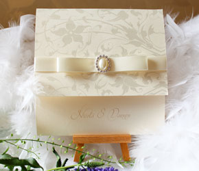 cream wedding stationery