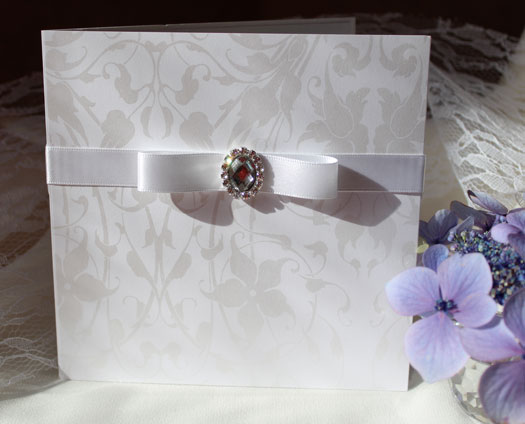 silver wedding stationery